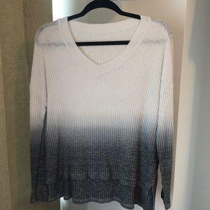 Women's long sleeve ombré knit sweater